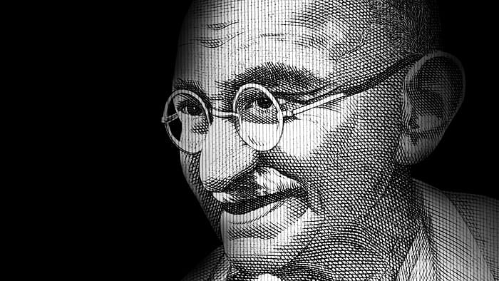 Stylized image of Mahatma Gandhi used for representational purposes.