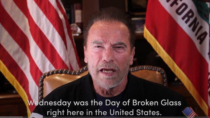 Arnold Schwarzenegger Equates US Capitol Attack to Nazi Violence