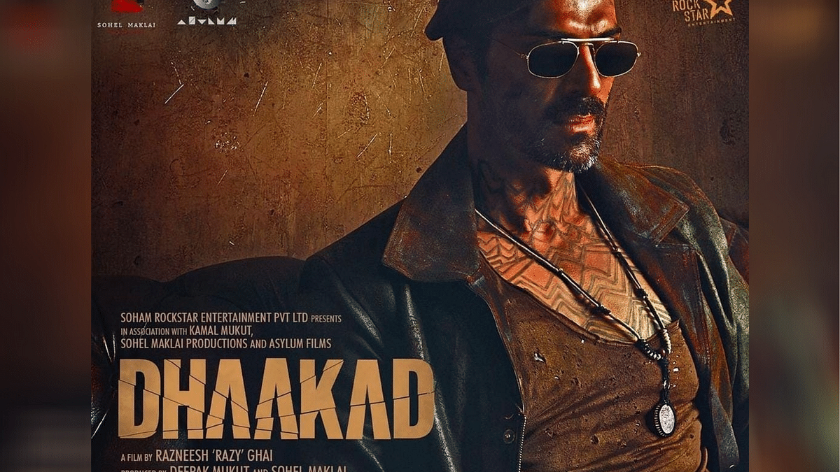 Arjun Rampal in a poster for <i>Dhaakad</i>.