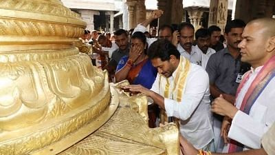 As BJP Rakes Up 'Christian' Identity, Jagan Builds Pro-Hindu Image