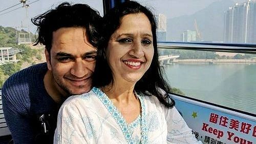 Vikas Gupta with his mother Sharda.