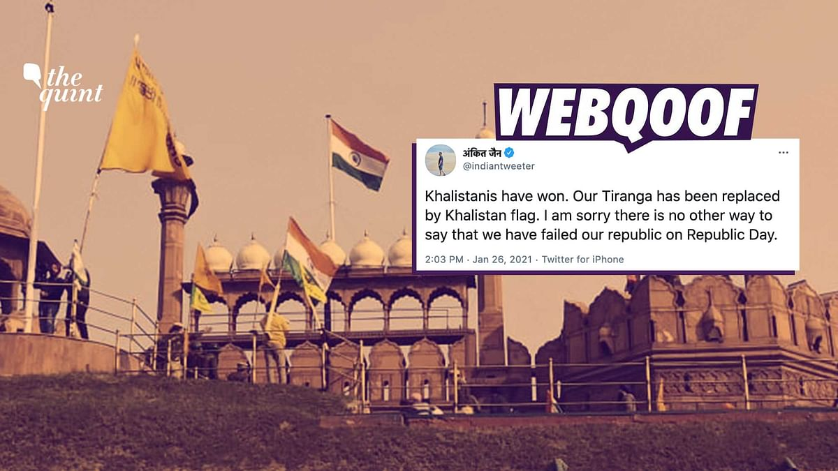 Fact-Check: Flag Hoisted Atop Red Fort by Farmers Not Khalistan's