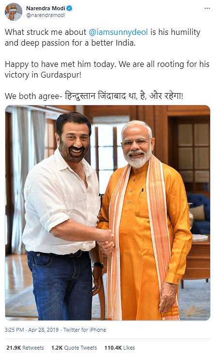 As Sunny Deol Says No Link to Deep Sidhu, Old Photo of Duo Emerges