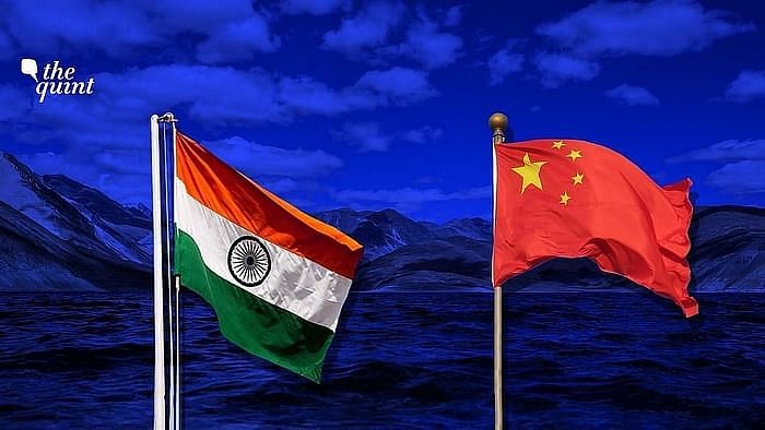 Indian and Chinese flags used for representational purposes.