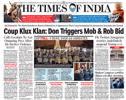 The Times Of India: Coup Klux Klan