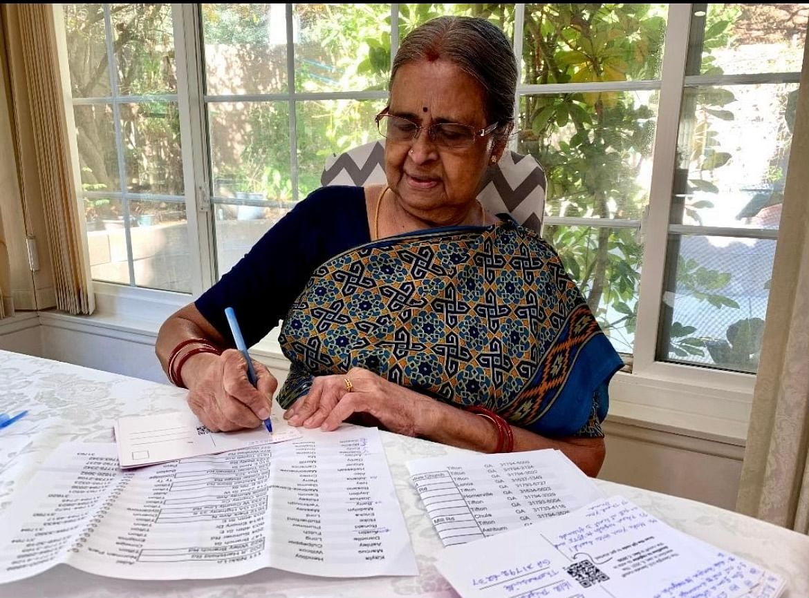 'South Asians for Biden': Annapurna Krishnan from California writes postcards to Georgian voters