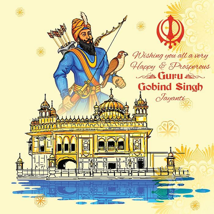 Guru Gobind Singh Jayanti wishes in English.