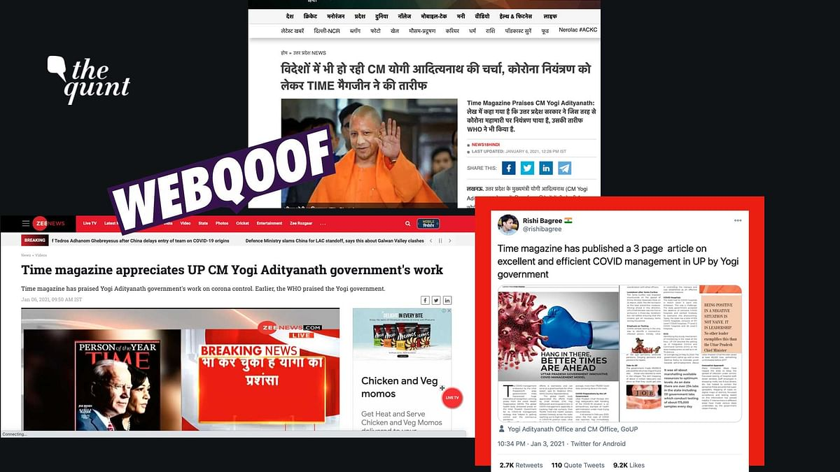 No, TIME Didn't Run a Story Praising Yogi Govt's Handling of COVID