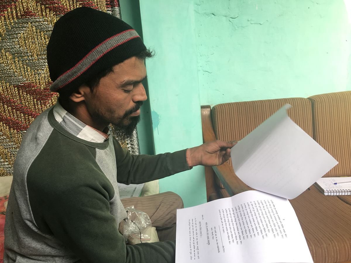 Salahuddin has the papers for all the victims of Meerut. He is hoping that soon there will be an FIR and he will be able to use the evidence he has gathered to make a case for his brother's death.