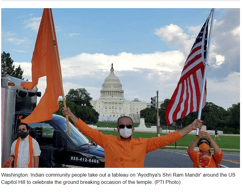 Old Image of Man Waving Saffron Flag at US Capitol Viral As Recent