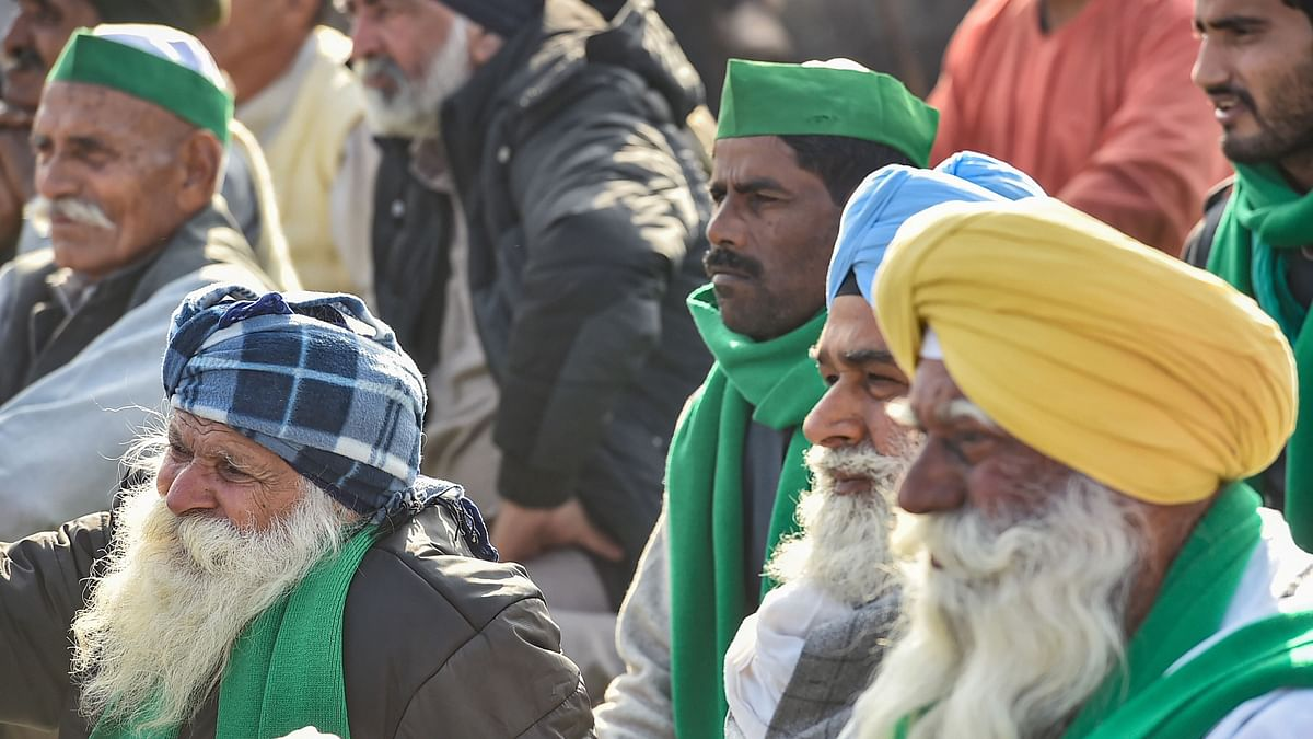 Farmers during their ongoing agitation against new farm laws, at Ghazipur border, in New Delhi. Image used for representation.