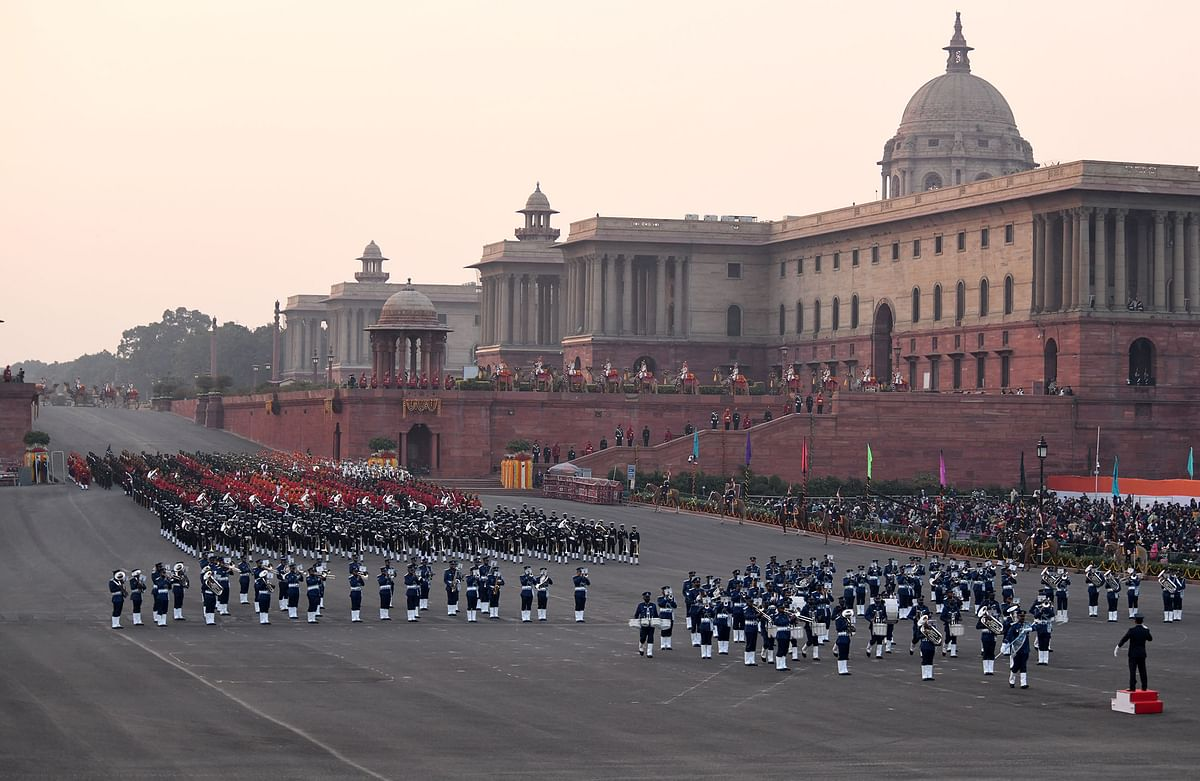 This year the number of seats for Beating Retreat ceremony was reduced from 25,000 to 4,000 due to the pandemic