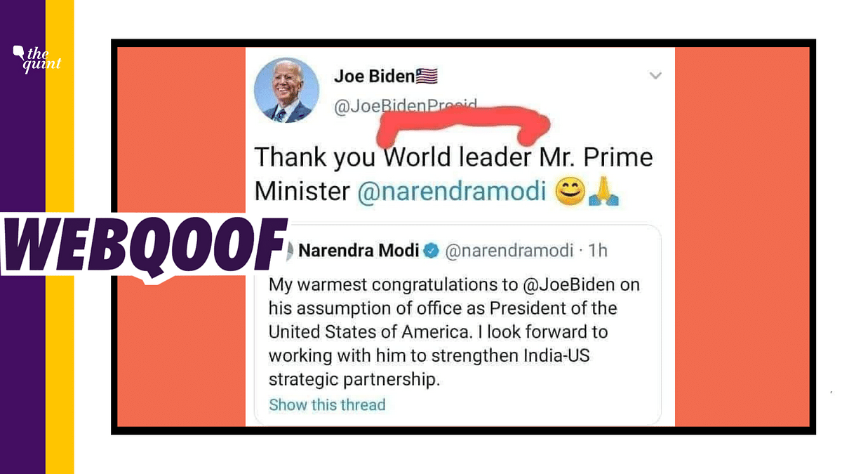 No, US President Joe Biden Didn't Call PM Modi a 'World Leader'
