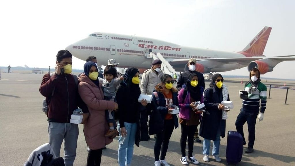 New Delhi: National carrier Air India's second special flight to the Chinese city of Wuhan, the epicentre of the novel coronavirus outbreak, landed at the IGI airport in New Delhi on Sunday with 323 Indian and seven Maldivian citizens onboard, on 2 February 2020.