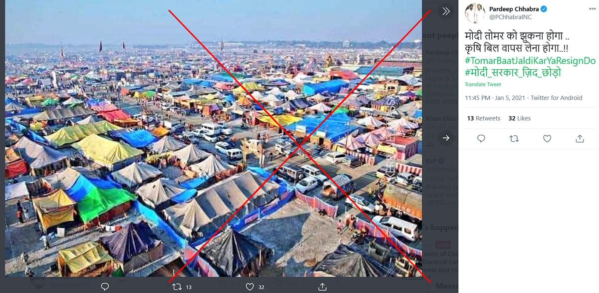 Old Images of Tents at Kumbh Mela Shared Amid Farmers' Protest