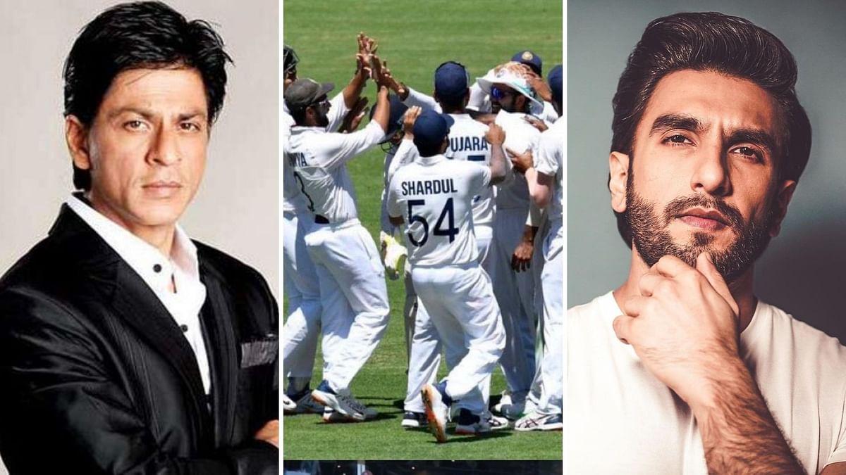 Shah Rukh Khan, Ranveer Singh congratulate India on their series win against Australia.