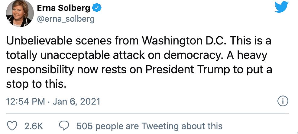 'Disgraceful': Johnson, Ardern & Merkel Condemn US Capitol Siege