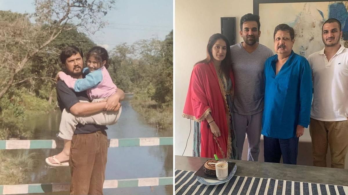 Actor Sagarika Ghatge remembers her late father.