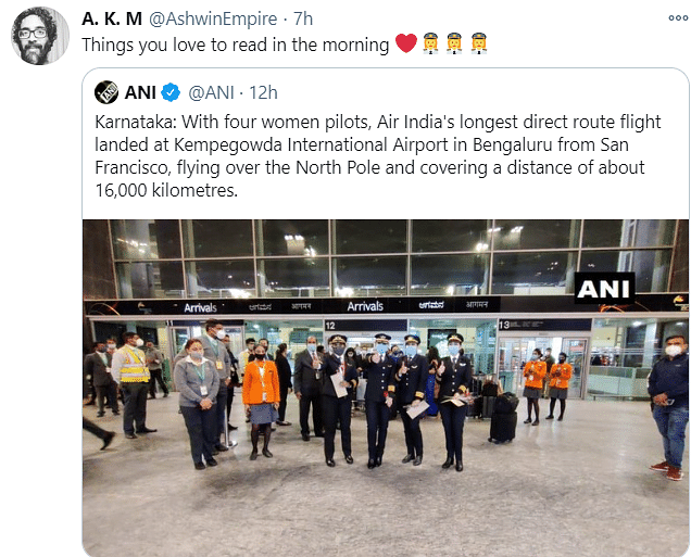 All-Women Pilot Crew Flies Longest Air India Direct Route Flight