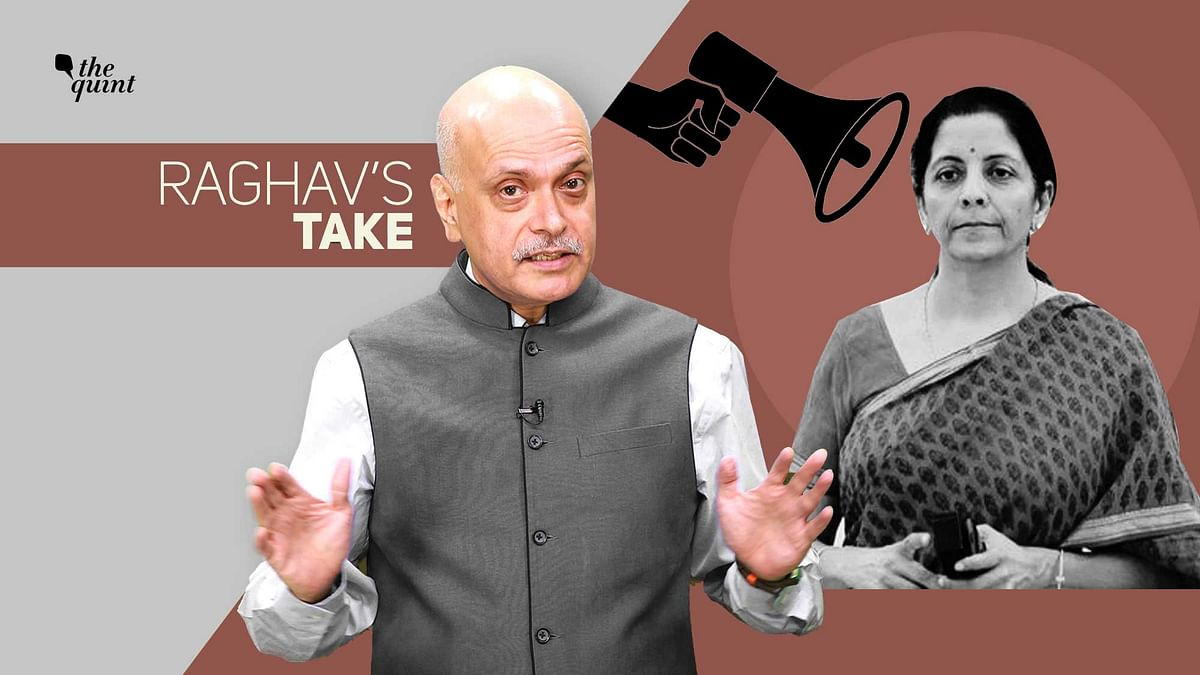 Raghav Bahl (L) and Finance Minister Nirmala Sitharaman (R). Image used for representational purposes.