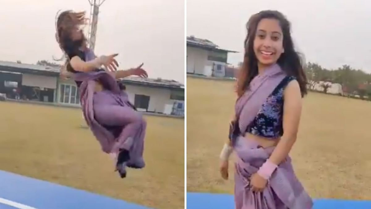 Watch: Gymnast Does Backflips In Saree, Charms The Internet
