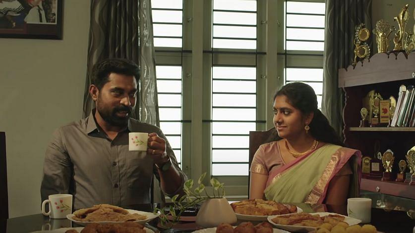 Suraj Venjaramoodu and Nimisha Sajayan in <i>The Great Indian Kitchen.</i>