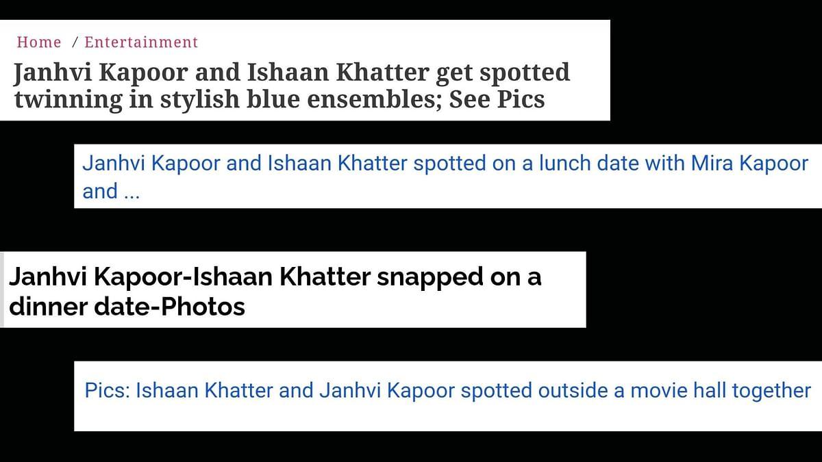 Headlines Janhvi Kapoor and Ishaan Khatter made during 'Dhadak'