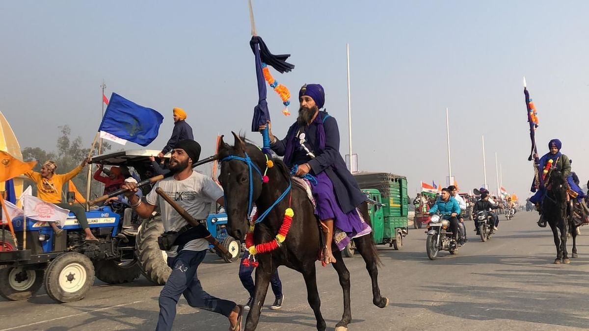 The involvement of Nihang Sikhs – the armed warriors clad in blue – has been a major highlight of the farmers' agitation against the Narendra Modi government's farm laws.