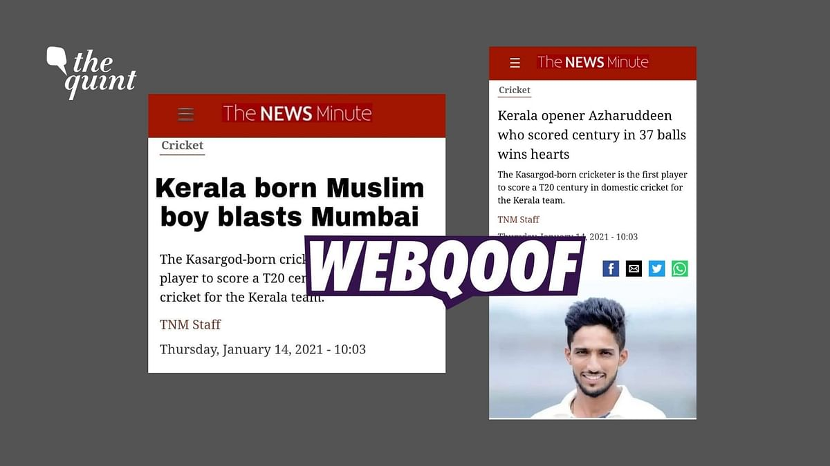 The News Minute's Story on Azharuddeen Shared with a Fake Headline
