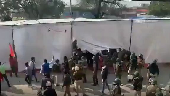 Singhu Border: Stones Thrown, Tents Torn at Farmers' Protest Site