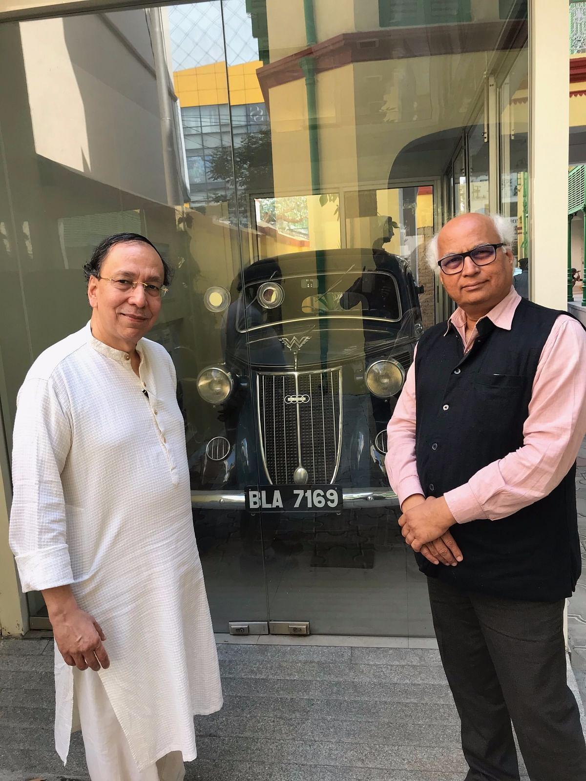 Author at Netaji Bose Museum in Kolkata last year at the invitation of Prof Sugata Bose, who is Netaji's grand nephew.