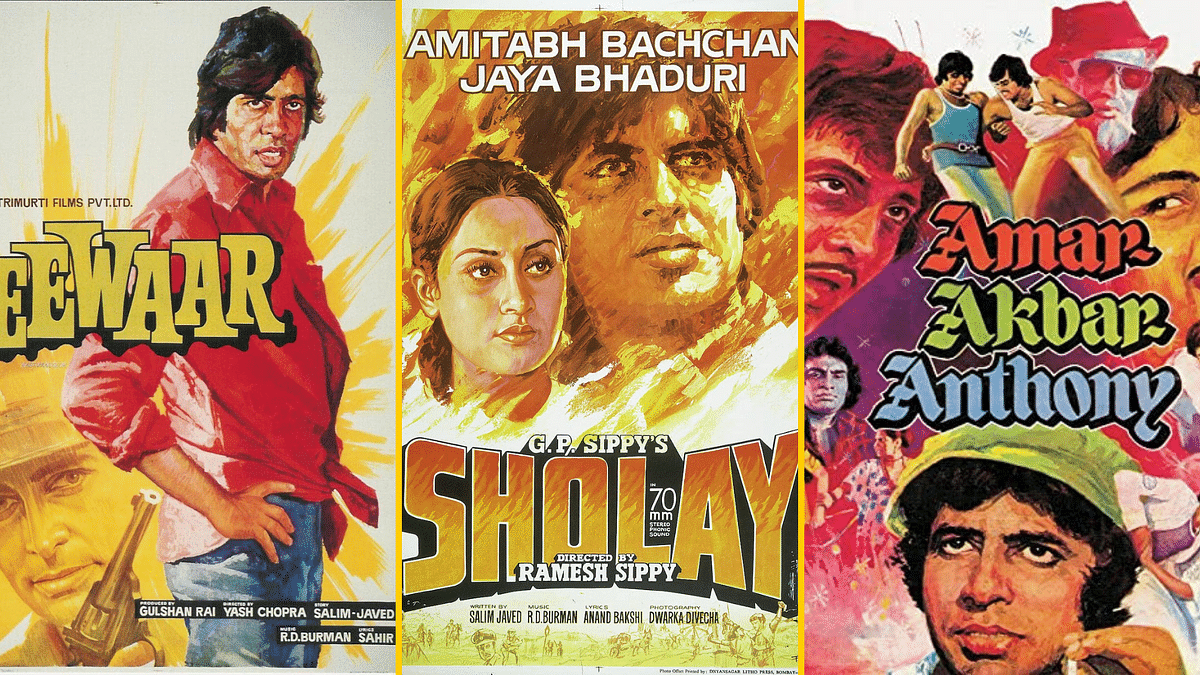 Diwakar Karkare created hand-painted posters for iconic Bollywood films such as <i>Sholay</i> and <i>Deewar</i>.