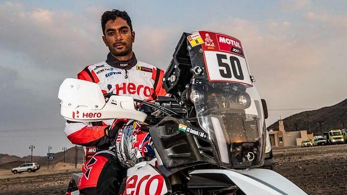 CS Santosh Suffers Crash in Dakar Rally, in Medically-induced Coma