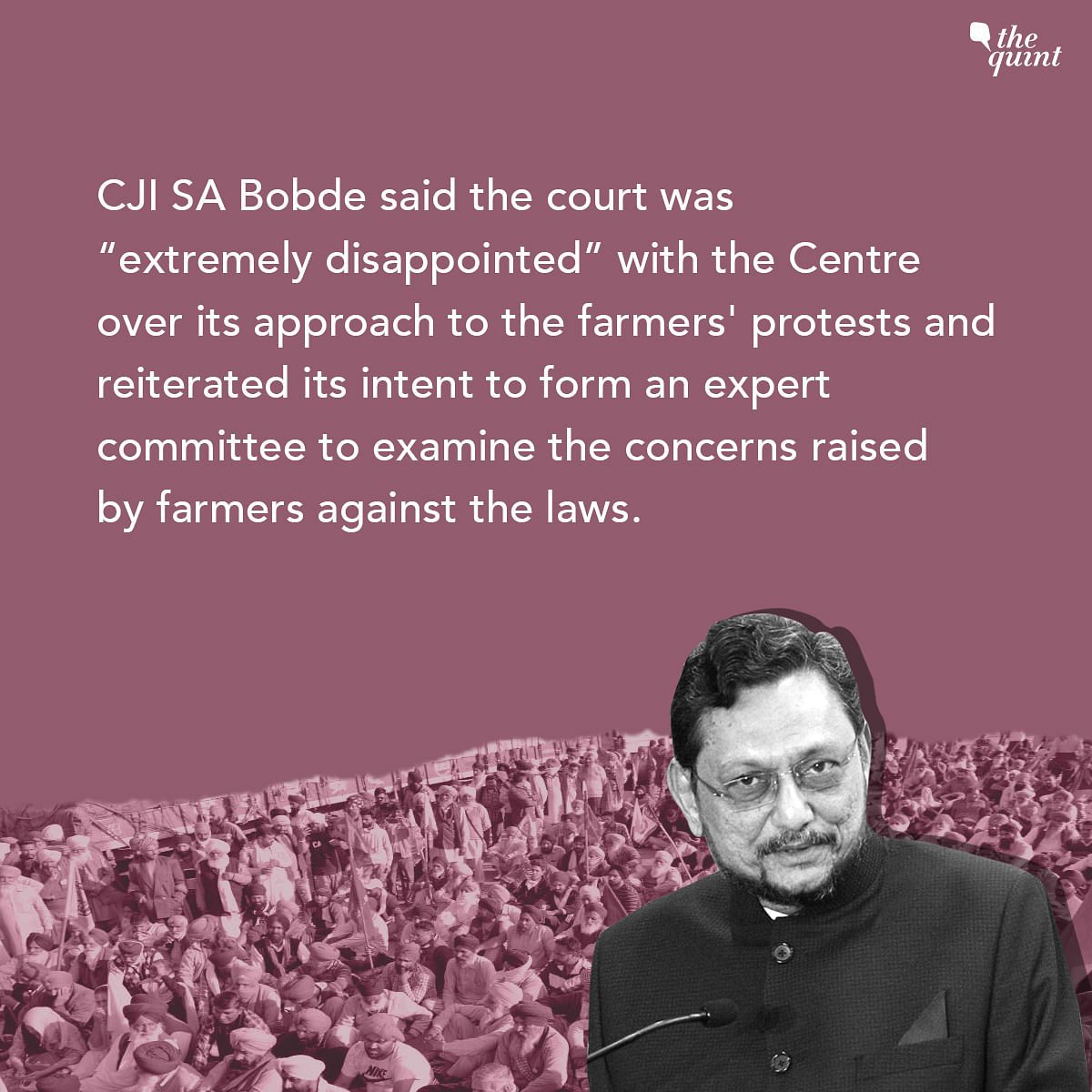 SC 'Extremely Disappointed' With Centre on Farmers' Protests: CJI