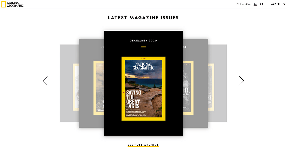 National Geographic magazine's cover for December 2020 issue.