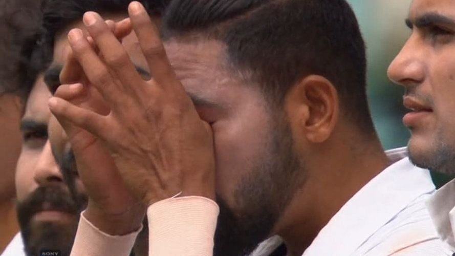 An emotional Mohammed Siraj was in tears after singing the national anthem at the SCG.