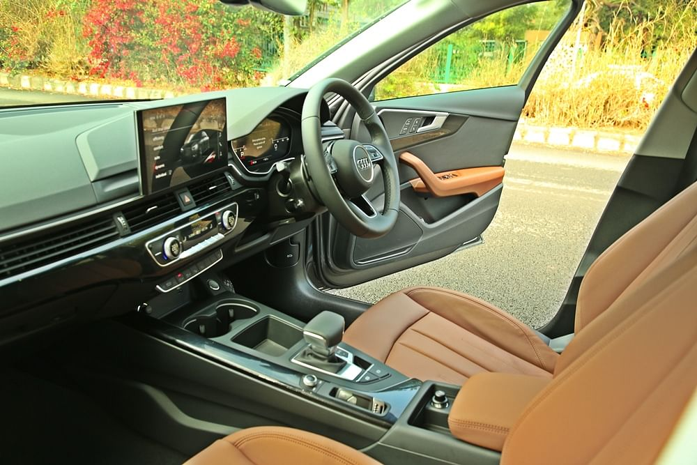 Audi's latest 10.1-inch MMI touch-controlled infotainment system sits plush on the centre of the dashboard.