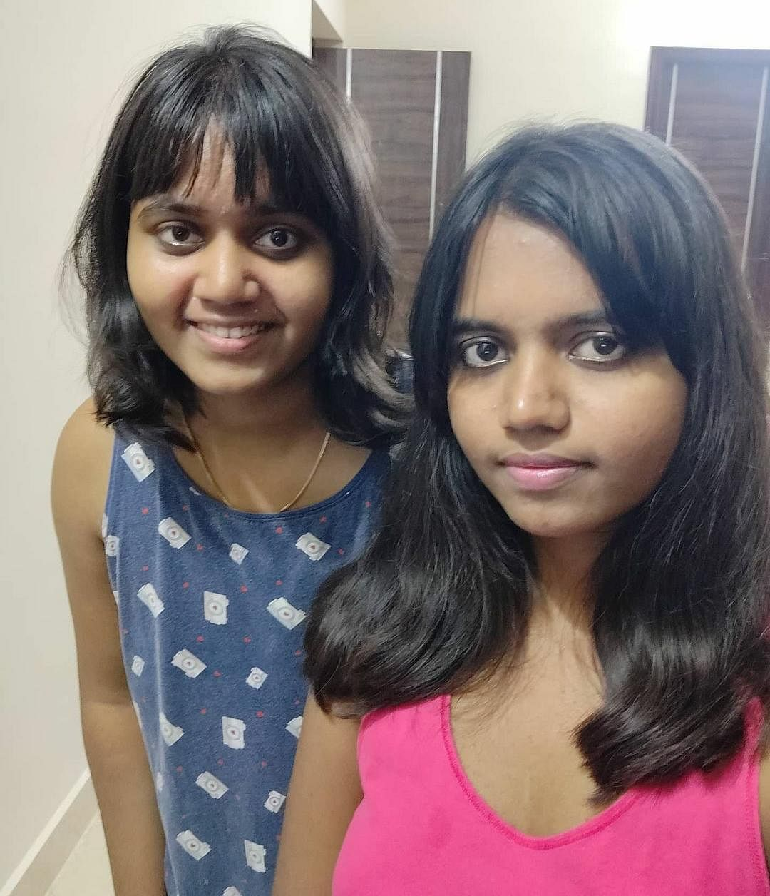 The daughters in another selfie.