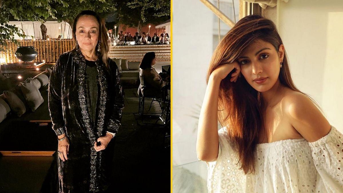 Soni Razdan comes out in support of Rhea Chakraborty.
