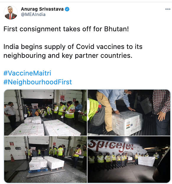 India imports SII's COVID-19 vaccine to other countries