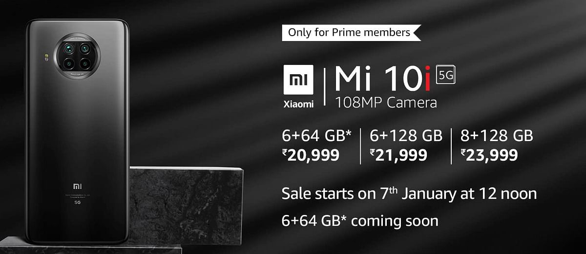 Xiaomi Mi 10i prices in India. Sale starts on Amazon on 7 January 2021