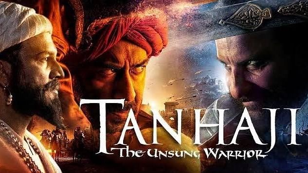 A poster of Tanhaji: The Unsung Warrior.
