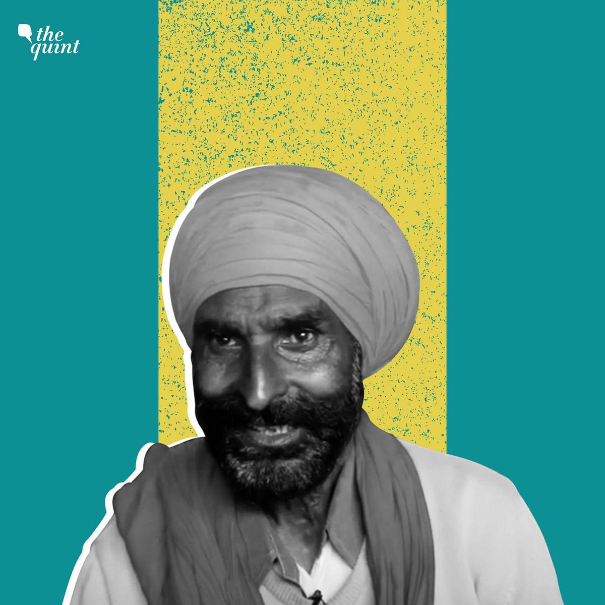 Jurnail Singh sings religious and patriotic songs at the Singhu Border.