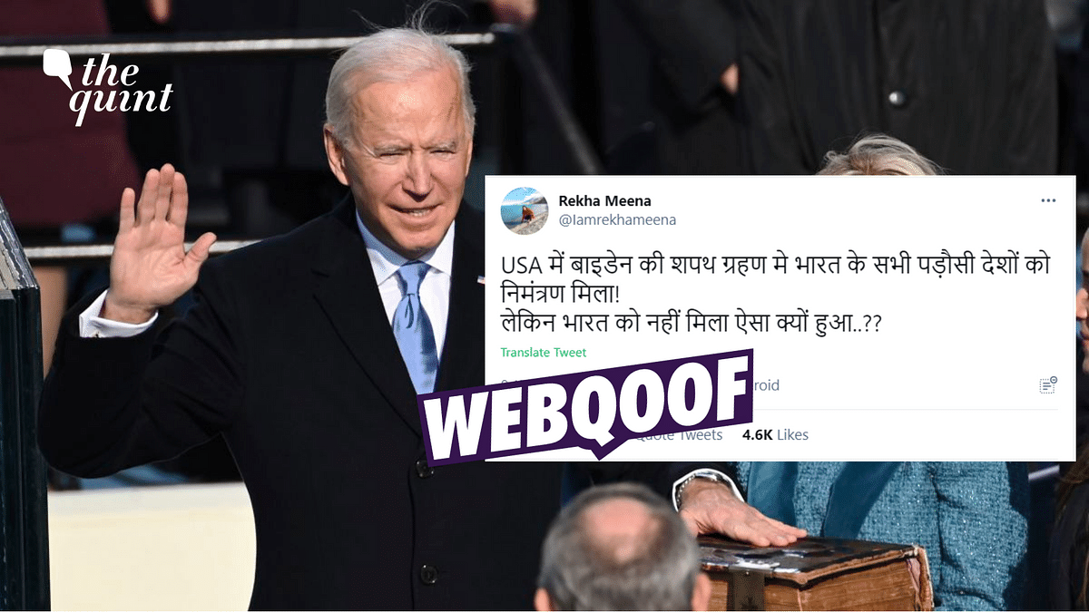 No, India Was Not Excluded From Joe Biden's Inauguration Ceremony