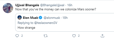 Elon Musk's Strange Response To Becoming World's Richest Person