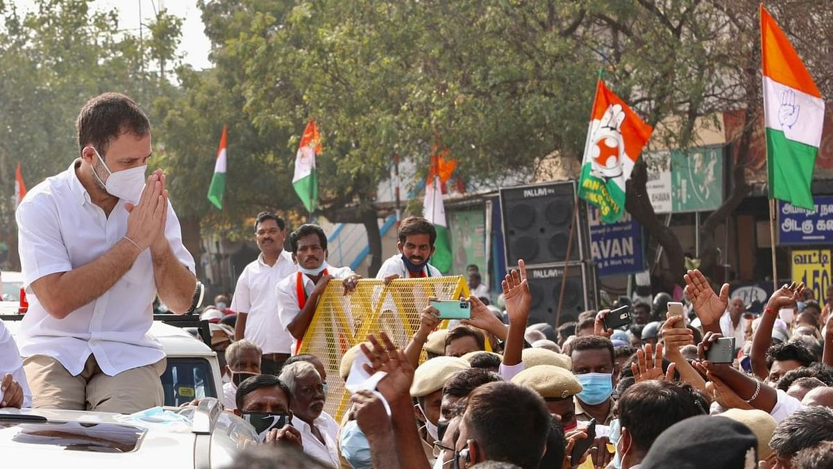 Rahul Gandhi launched Congress' political campaign in poll-bound Tamil Nadu on 23 January.