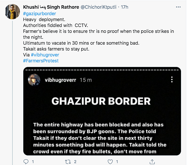 10 Tweets That Tell You What Happened At Ghazipur Border
