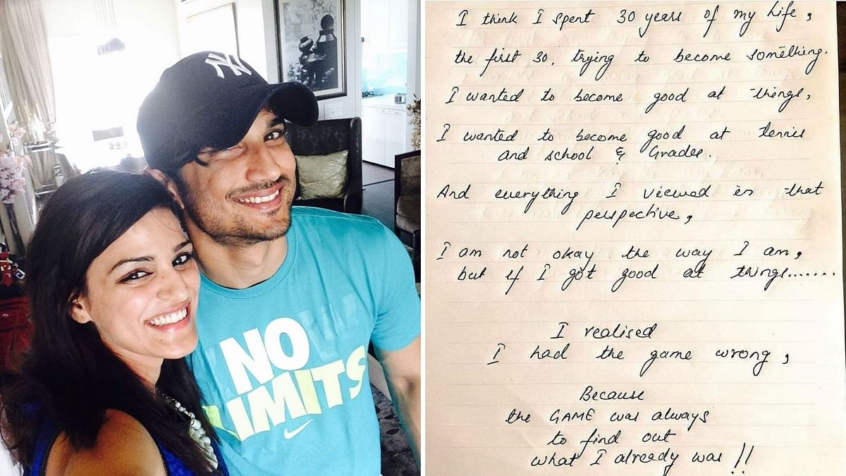 Sushant Singh Rajput's sister Shweta Singh Kirti shares a note penned by him.