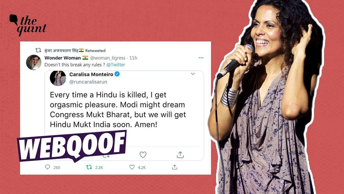 Fact-Check of Fake Tweet from Caralisa Monteiro | We compared the viral tweet with an original tweet from Monterio's account and found that the screenshot had been morphed.