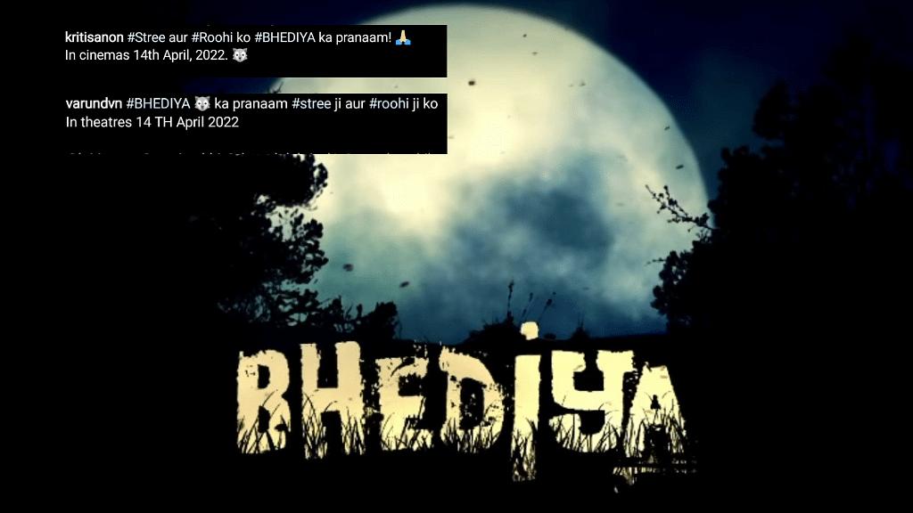 'Bhediya' stars Varun Dhawan and Kriti Sanon share teaser on social media